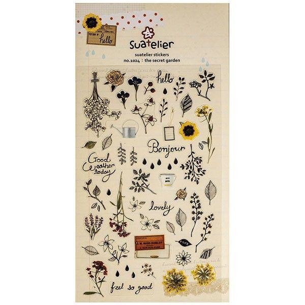 De charmants stickers jardin pour loisirs créatifs