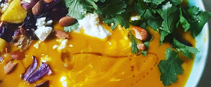 Spiced pumpkin soup –  recipe courtesy of Sarah Marfurt, student dietitian