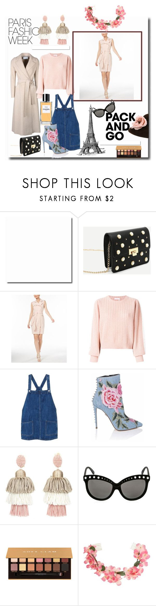 """""""It's Fashion Week!"""" by sallytcrosswell on Polyvore featuring Harris Wharf London, Calvin Klein, See by Chloé, White Label, MANGO, Oscar de la Renta, Italia Independent, Anastasia Beverly Hills, Miss Selfridge and Chanel"""