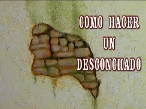 DIY PARED DE PIEDRA CON DESCONCHADO - CHIPPED THE WALLS OF HOUSES IN CRI...