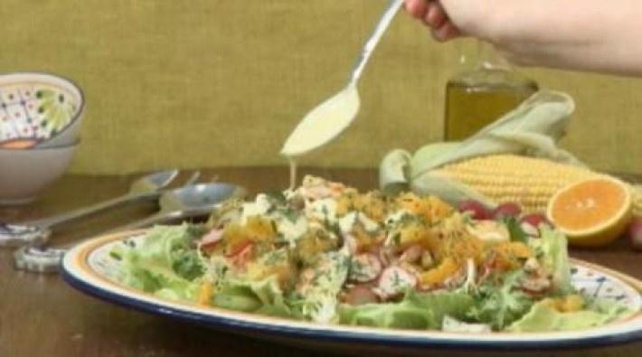Salada de frango agridoce/Recepedia