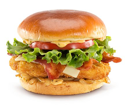 Premium Crispy Chicken Bacon Clubhouse Sandwich //I need to learn how to make this, it's fucking delicious. Best out of the three, especially since I can't eat beef anymore. Or bacon (pork), so yeah I order it without the bacon now but it's still pretty damn good.