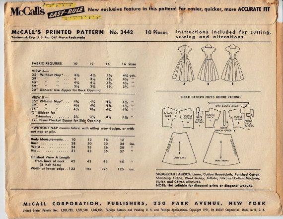 jaren 1950 rockabilly jurk patroon McCalls door ShellMakeYouFlip