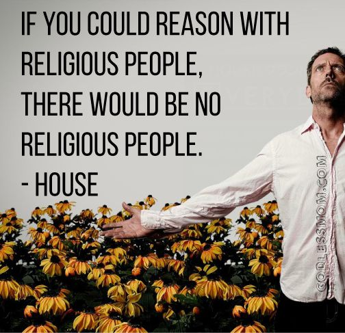 Reasoning with religious people.