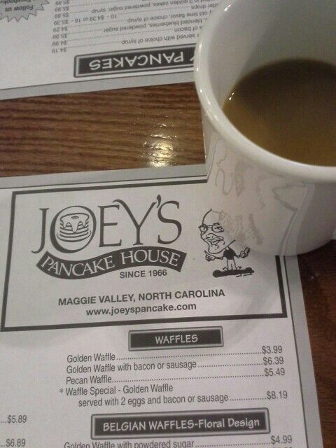 For over 46 years Joey's Pancake House has been the favorite breakfast stop for the locals and visitors of Maggie Valley, North Carolina.  With our world famous signature pancakes, country ham, and golden waffles Joey's is sure to become a tradition for you and your family.