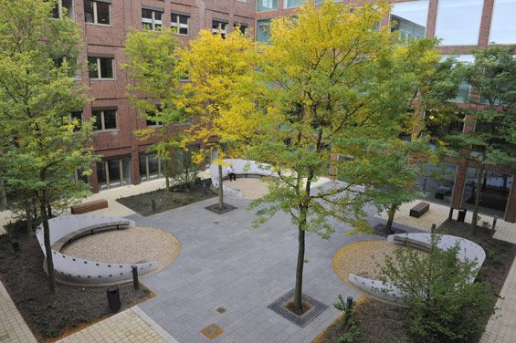Orientation by Light, Maasstad Hospital   Rotterdam Netherlands  Stijlgroep Landscape and urban design