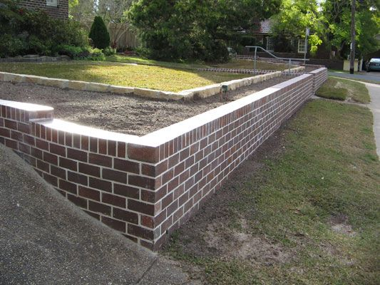 Retaining wall bricks edge landscapes of sydney Bricks sydney