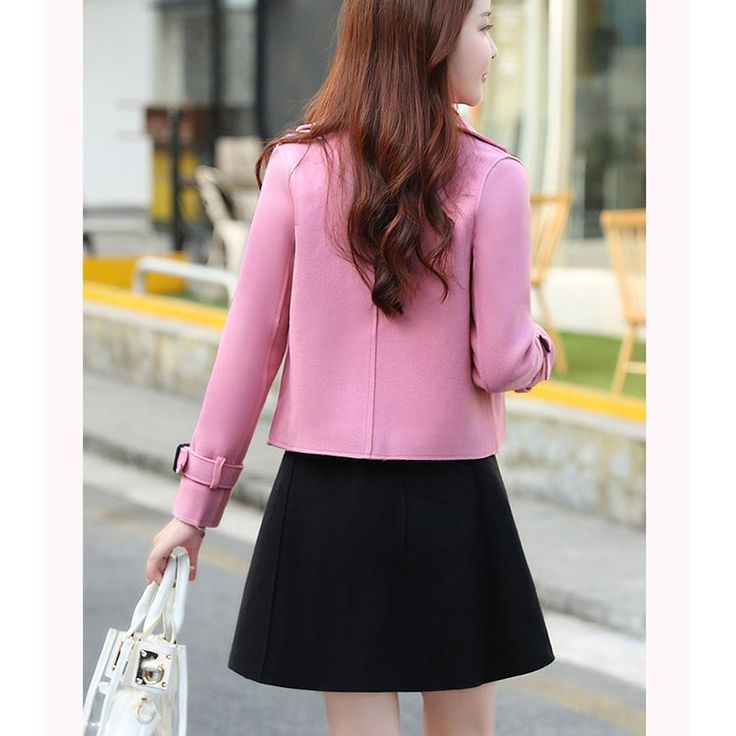 Women Coat Top Black Skirt Set Clothing Korean Fashion Office Suits Autumn New Skirt Overcoat Two-Piece Trendy Tweed Clothes