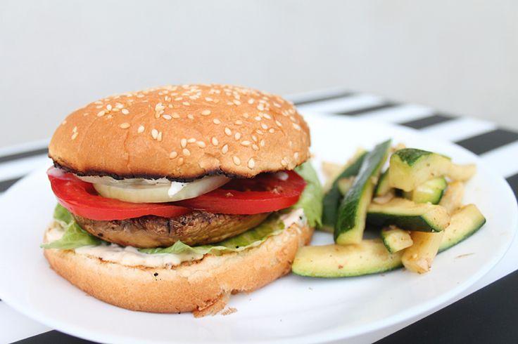 Veganský portobello burger recept