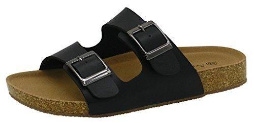 Oferta: 49.99€ Dto: -56%. Comprar Ofertas de AgeeMi Shoes Mujere Plano Sandalias Punta Abierta Verano Zapatos Unisex Adulto,EuL05 Negro 37 barato. ¡Mira las ofertas!