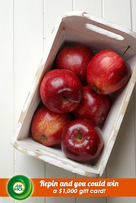 Crisp, freshly picked #apples harvested from the orchard. Visit link for sweepstakes information: https://www.airwick.us/repin_to_win.php