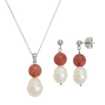 Freshwater by HONORA Sterling Silver Freshwater Cultured Pearl