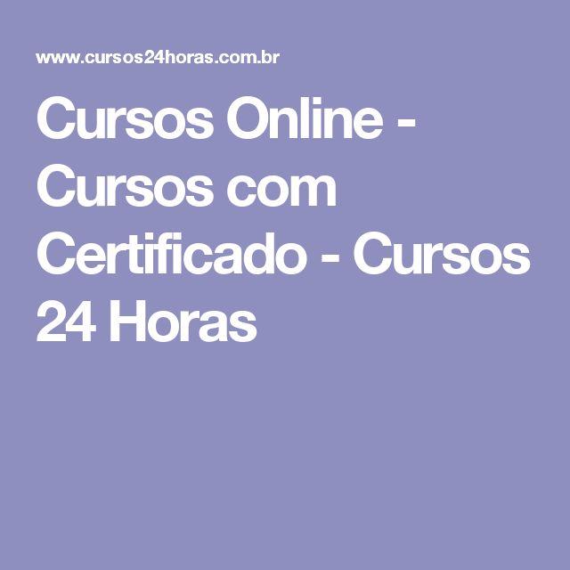 Cursos Online - Cursos com Certificado - Cursos 24 Horas