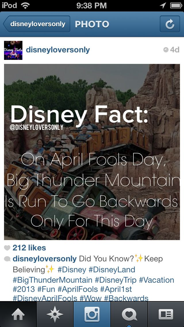 Disney fact-officially on my bucket list:go to Disney on April 1st. This totally…
