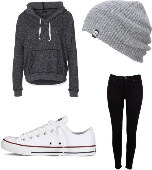winter lazy outfit.... I WANT WHITE CONVERSE