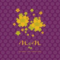 Wedding Invitation cards Hip Hop Flowers Royal Purple Wedding