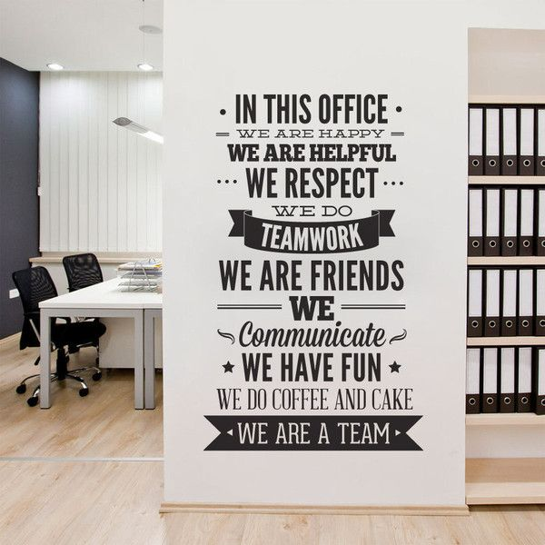 Office Decor Typography in This Office Ultimate Typography Decal Office Sticker Motivational (€46) found on Polyvore featuring home, home decor, wall art, home & living, home décor, wall decals & murals, wall décor, yellow, yellow wall art and quote wall art