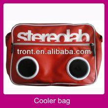 2013 new design speaker cooler bag picnic food cooler bag with speaker