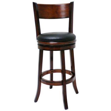 Boraam Palmetto 29 Half Back Wood Swivel Bar Stool Brandy Walmart Com Swivel Bar Stools Bar Stools Swivel Counter Stools 29 inch bar stools with back