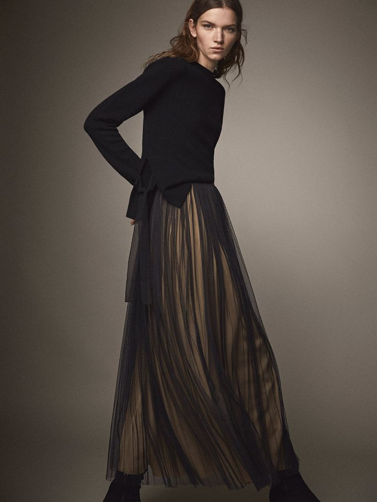 Fall Winter 2017 Women´s BLACK TULLE SKIRT at Massimo Dutti for 140. Effortless elegance!