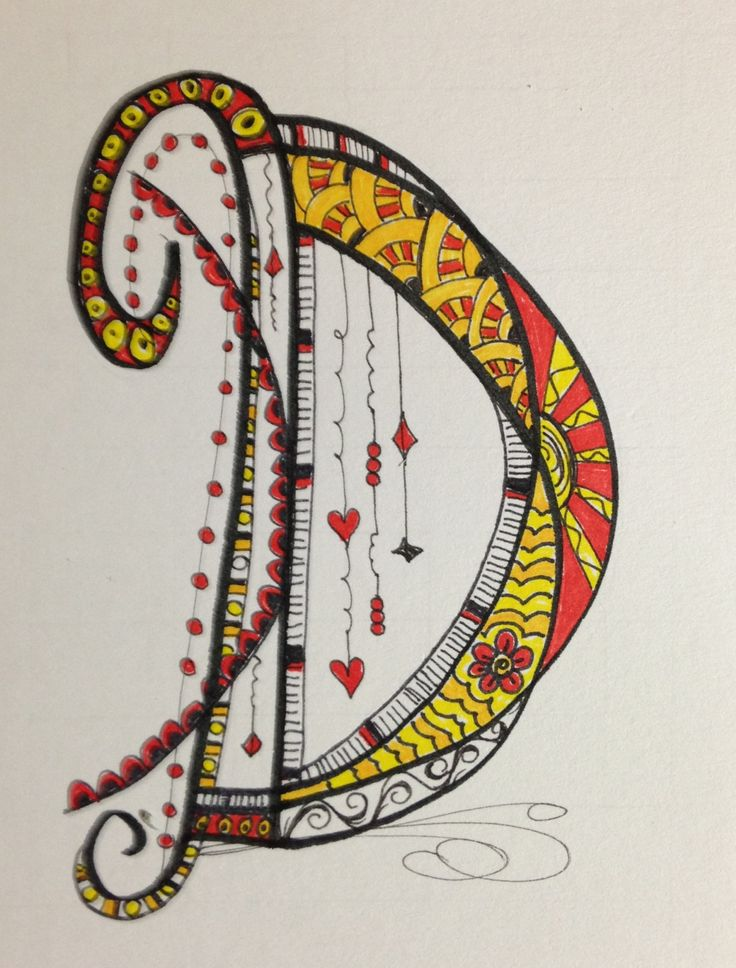 ::My Zen Tangle / Doodle Art  working on the alphabet.:: The letter looks like the harp unstrung or perhaps a light-catcher mobile under construction.