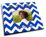 "The Zeta Phi Beta Chevron Picture Frame! Zeta Phi Beta adorable sorority picture frames come in vibrant full color and has your sorority name popping off the frame with vividness.  Each sorority picture frame measures 8""x10"" and fits 4x6 photos."