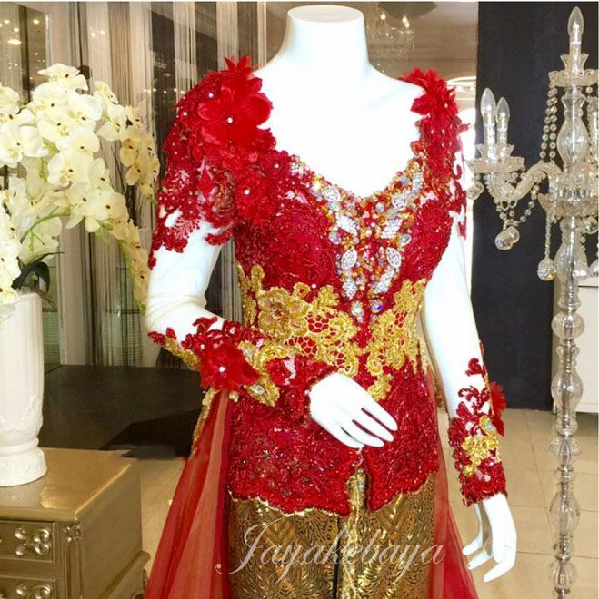 Wedding Kebaya Modern dress Red 2016