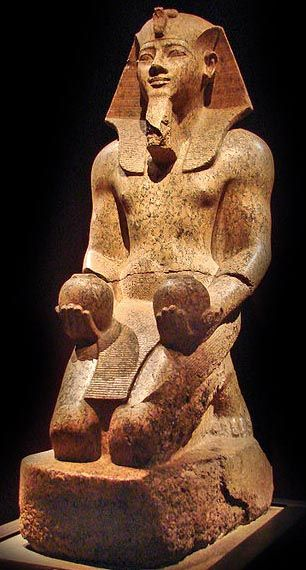 Amenhotep II     About two years before his death, Thutmose III appointed his 18-year-old son, Amenhotep II (ruled c. 1426–1400 bc), as coregent. Just prior to his father's death, Amenhotep II set out on a campaign to an area in Syria near Kadesh, whose city-states were now caught up in the power struggle between Egypt and Mitanni; Amenhotep II killed seven princes and shipped their bodies back to Egypt to be suspended from the ramparts of Thebes and Napata.
