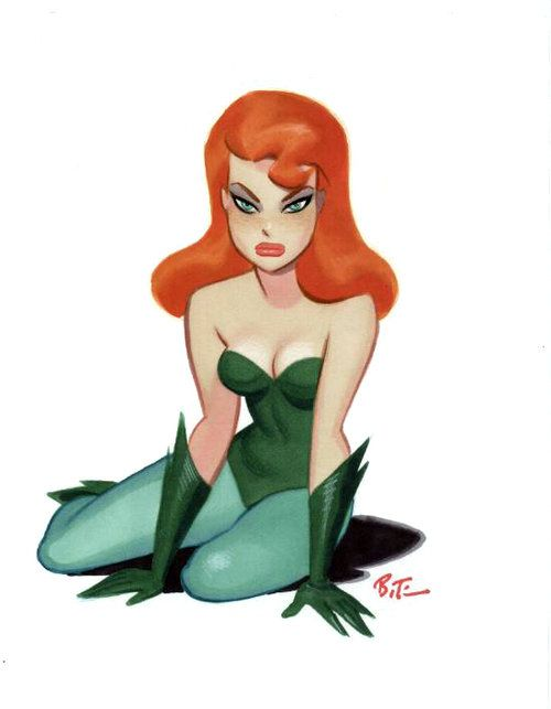 Poison Ivy by Bruce Timm. She's always gonna be my favorite villain I think.