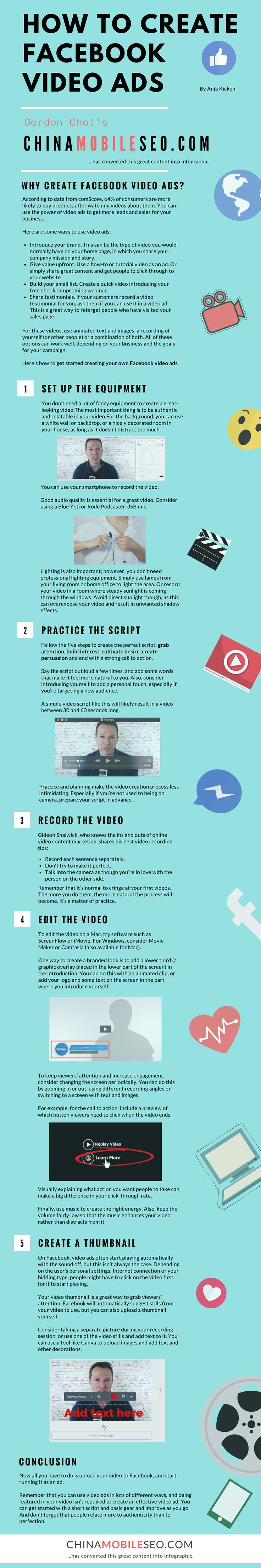 Facebook video ads | create a video | create videos | make a video | make videos | record a video |  ScreenFlow | iMovie | Camtasia | Movie Maker | video thumbnail | Blue Yeti | Social Media Examiner | SocialMediaExaminer.com | Anja Kicken | Gordon Choi | ChinaMobileSEO.com