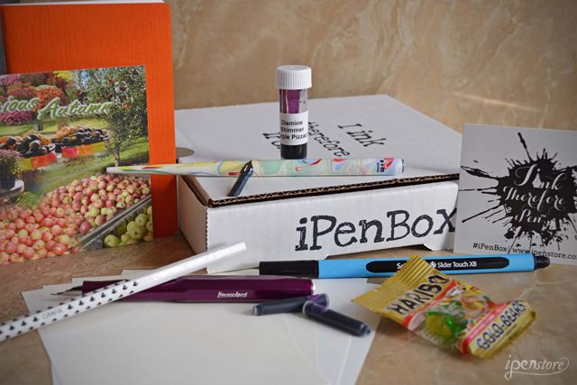 iPenBox is a subscription box for the pen, paper and ink enthusiast, delivering a monthly box of products to your door. Each month this mystery box will be filled with new, unusual, cool and innovative items from the pen, paper and ink world. We travel the world to find the best products and hand pick 6-9 items around a fun monthly theme! This way you'll be able to discover and sample new items that you might not have heard of or tried before.