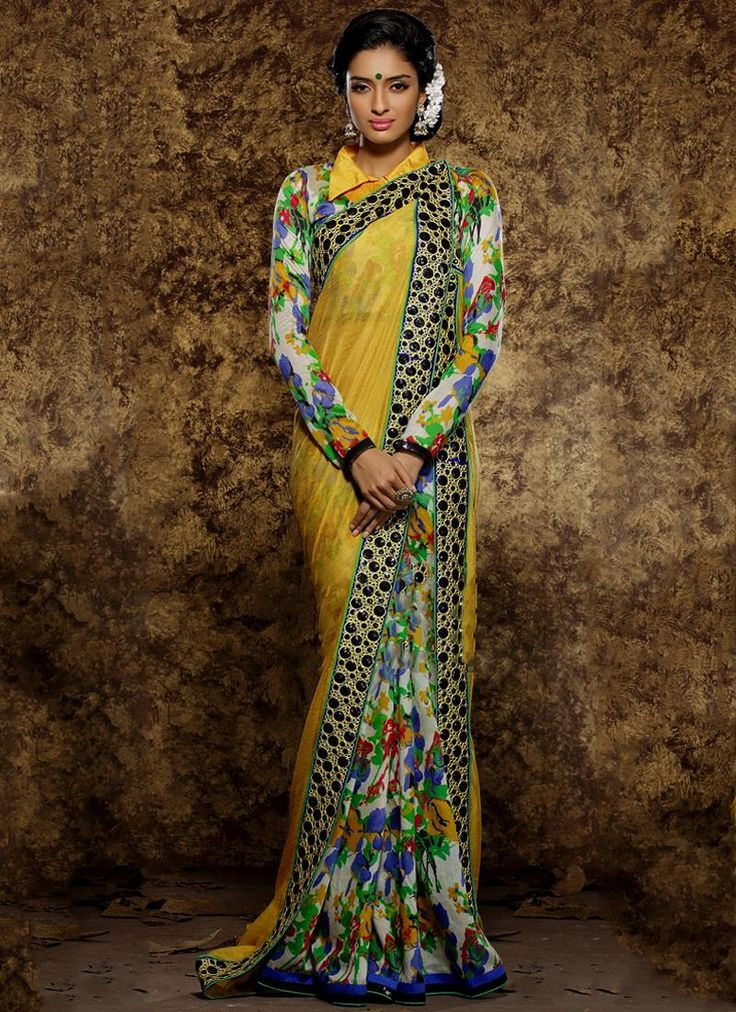 Lovely Viscose Print Work Traditional  Saree