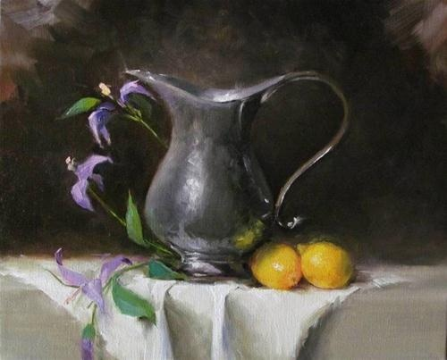 """""""Pitcher and Lemons"""" by Maureen  Killaby"""