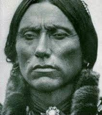 Close up of Quanah Parker (~1845-1911), the Last Comanche chief. Quanah's 2nd wife in 1872 was Weakeah, daughter of Penateka Comanche subchief Yellow Bear (aka Old Bear). Although first espoused to another warrior, she and Quanah eloped, and took several other warriors with them. It was from this small group that the large Quahadi band would form. Yellow Bear pursued the band and eventually Quanah made peace with him. The two bands united, forming the largest force of Comanche Indians…