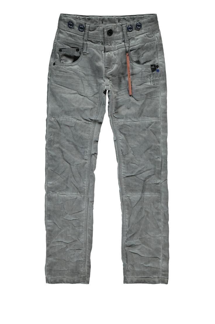 #Brice #Bakerbridge Mid grey, mooie kleur grijs, jongens broek, met klein kobalt detail, Winter 2015