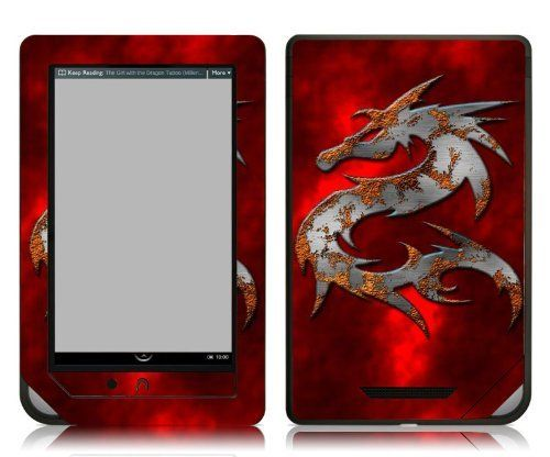 Bundle Monster Barnes & Noble Nook Color Nook Tablet eBook Vinyl Skin Cover Art Decal Sticker Accessories - Red Dragon - Fits both Nook Color and Nook Tablet (Released Nov. 7, 2011) Devices by Bundle Monster. $9.99. This design skin set helps protect and stylize your ebook Barnes & Noble Nook Color and Nook Tablet only.  This skin will not fit the older generation Black and White Nook or the Nook Touch.  Skins are made up of a superb vinyl material that is environment...