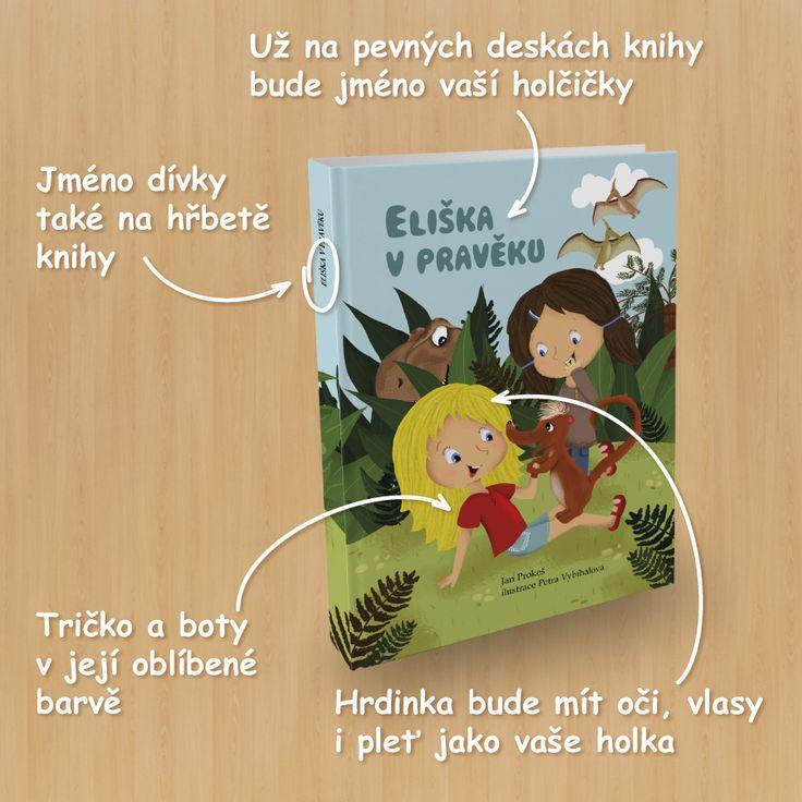 image 037-K-CZ-Eliska-900x900-01 holka, dětská kniha, originální dárek, pravěk, knihy pro děti, krásné čtení, osobní knihy, dobrodružný, originální knihy, na míru
