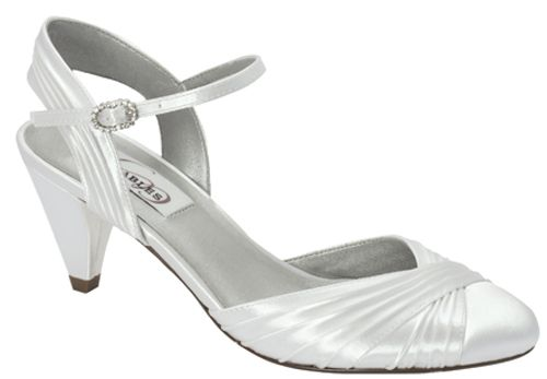 """ALEXIS WHITE SATIN 2 1/4"""" HEEL in Dyeable Shoes - DyeableShoeStore.com"""