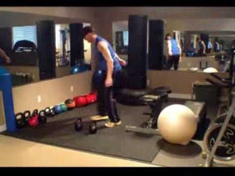 At my studio in South Calgary http://www.bouncelife.ca I love to use this move. It is a front squat using Kettlebells for resistance. This move fries the front of the quads and glutes if done correctly  Watch the tutorial to find out how to do it correctly. http://youtu.be/OrIuoba6YpU  Get your own copy of 73 No Guilt Fat Burning Recipes here: https://www.facebook.com/bouncelifesystems/app_208195102528120