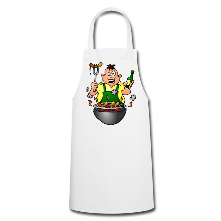 #BBQ #Grill  #Schürze #apron BBQ - Grill Kochschürze. #Spreadshirt #Cardvibes #Tekenaartje #SOLD