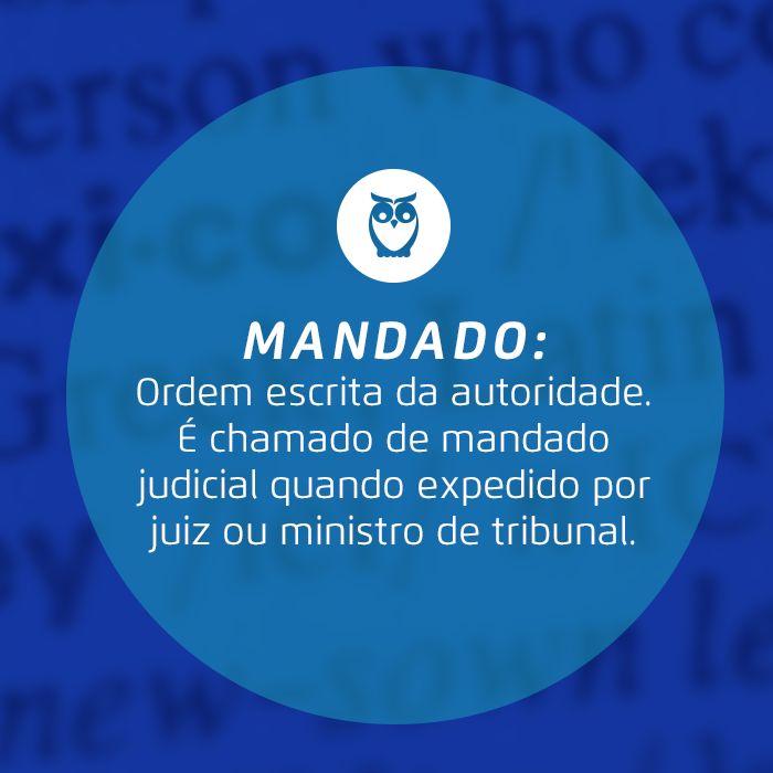 Ordem de autoridade! #glossário #jurídico #significado #palavra #estudos