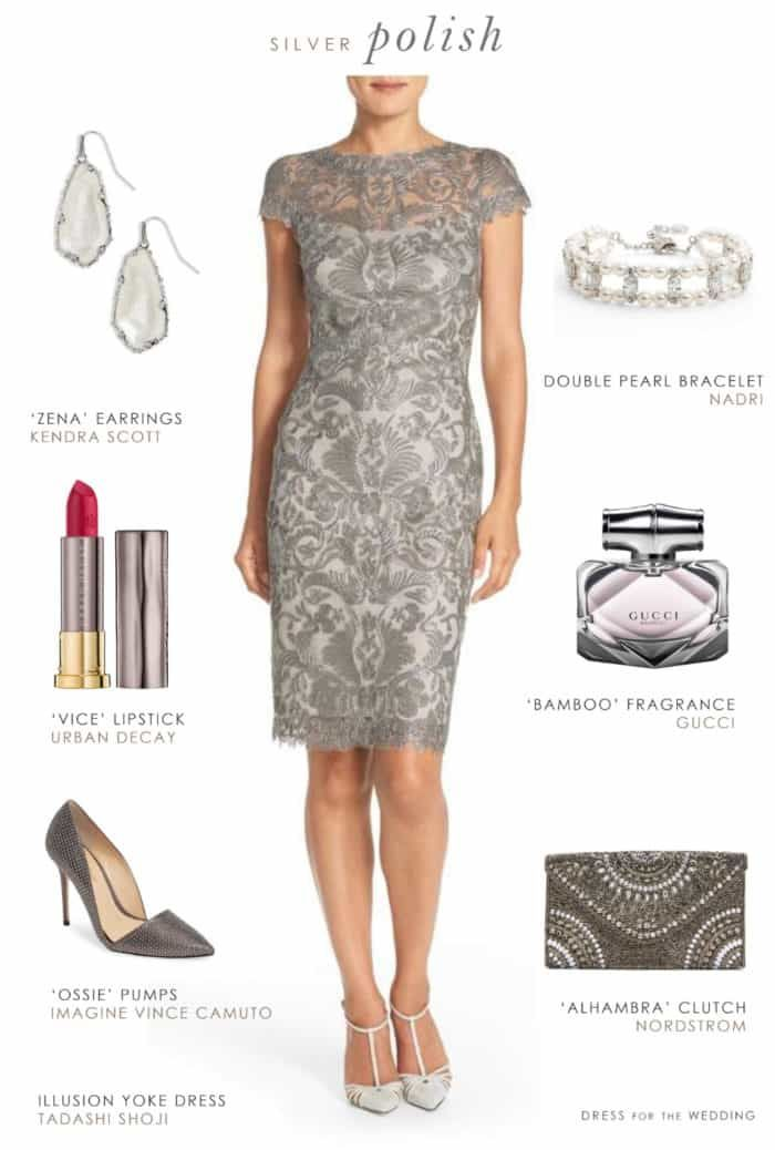 Grey Lace Sheath Dress For A Wedding Guest Or Mother Of The Bride Dress For The Wedding Lace Wedding Guest Dress Mother Of The Bride Dresses Short Lace Dress