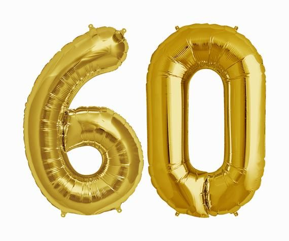 Happy 60TH Balloons 60th birthday party decorations balloon decor ideas cheers to 60 years loved 60th anniversary gold silver rose gold