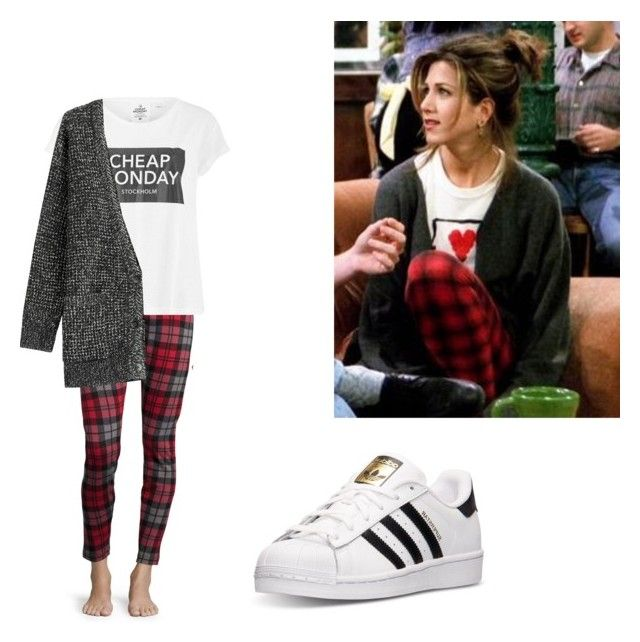 """""""Friends RACHEL GREEN inspired outfit"""" by another-fangirl-called-indi ❤ liked on Polyvore featuring Episode, UGG Australia, Cheap Monday, Closed and adidas"""