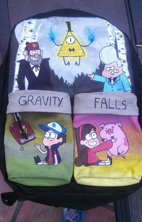 Gravity Falls Painted Backpack by classykatelyn on Etsy, $80.00 .. Shut up! I love this!