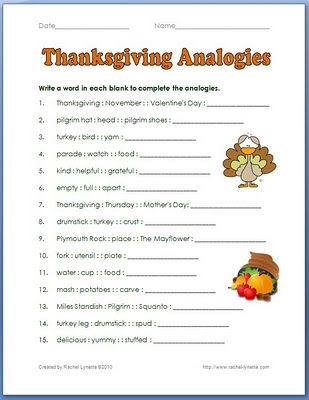 Thanksgiving Analogies