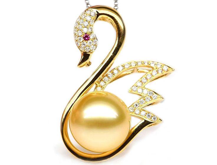 46 best golden south sea pearl pendants images on pinterest south sea pearl pendant setting golden aloadofball Gallery