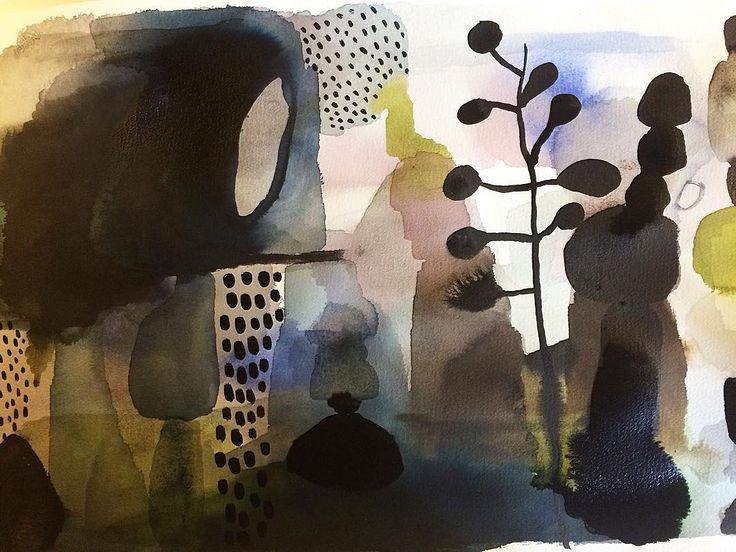 Watercolor by Emma Larsson @zebrakadebra