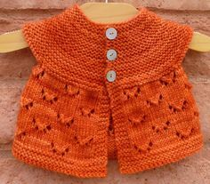 Knitting: Monarch Butterfly Pattern for Baby.