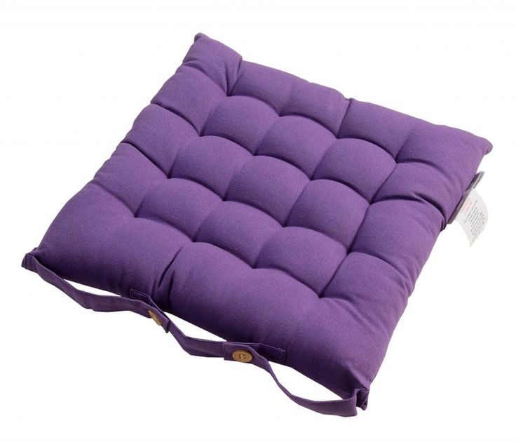 Homescapes   Seat Pad   Purple   40 x 40 cm   Indoor   Garden   Dining    Chair Cushion with a Button Tie Handle to fix to Chair   100  Cotton  Best 25  Purple seat pads ideas on Pinterest   Dog blanket  Easy  . Purple Leather Dining Chairs Uk. Home Design Ideas
